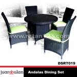 Andalas Dining Set Meja Makan Rotan Sintetis DSRT019 copy
