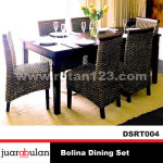 Bolina Dining Set Meja Makan Rotan Alami DSRT004