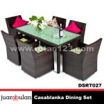 Casablanka Dining Set Meja Makan Rotan Sintetis DSRT027