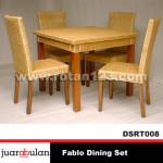 Fablo Dining Set Meja Makan Rotan Sintetis DSRT008