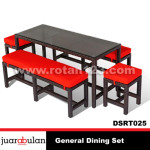 General Dining Set Meja Makan Rotan Sintetis DSRT025