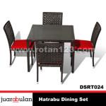 Hatrabu Dining Set Meja Makan Rotan Sintetis DSRT024