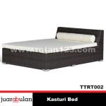 Kasturi Bed Tempat Tidur Rotan Sintetisi TTRT002
