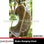 Kubo Hanging Chair Ayunan Rotan Alami HCRT001