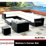 Balines Sofa L Corner Set Rotan Sintetis SLRT001