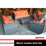 Black Mambo Sofa Set  Sofa Rotan Sintetis SRT018