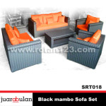 Black Mambo Sofa Set  Sofa Rotan Sintetis SRT018 copy