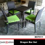 Dragon Bar Set Kursi Meja Bar Rotan Sintetis KRT011
