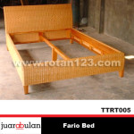 Fario Bed Tempat Tidur Rotan Alami TTRT005