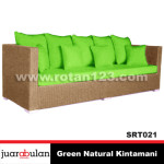 Green Natural Kintamani Sofa Rotan Alami SRT021