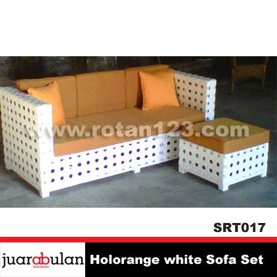 Harga Jual Holorange White Sofa Set Sofa Rotan Sintetis Model Gambar