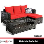 KAbriole Sofa Set Sofa Rotan Sintetis SRT030