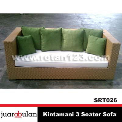 Harga Jual Kintamani 3 Seaters Sofa Rotan Sintetis Model Gambar