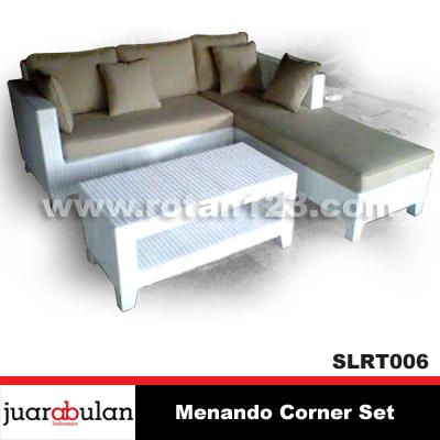 Harga Jual Menando Sofa L Corner Set Rotan Sintetis Model Gambar