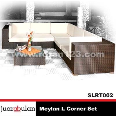 Harga Jual Meylan Sofa L Corner Set Rotan Sintetis Model Gambar
