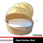 Orgit Outdoor Bed Tempat Tidur Rotan Sintetis TTRT008