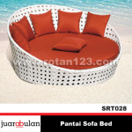 Pantai Sofa Bed Sofa Rotan Sintetis SRT028
