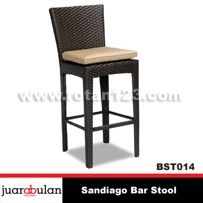 Sandiago Bar Stool Kursi  Bar Rotan Sintetis