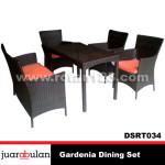 Gardenia Dining Set Meja Makan Rotan Sintetis DSRT034
