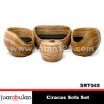 Ciracas Sofa Set  Rotan Alami SRT045
