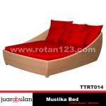 Mustika Bed Tempat Tidur Rotan Sintetis TTRT014