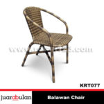 Balawan Single Chair Kursi Rotan Sintetis KRT077