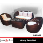 Alony Sofa Set Rotan Sintetis SRT056