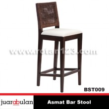 Asmat Bar Stool Kursi  Bar Rotan Alami