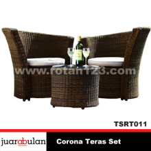 Corona Teras Set Kursi Rotan Sintetis