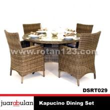 Kapucino Dining Set Meja Makan Rotan Sintetis