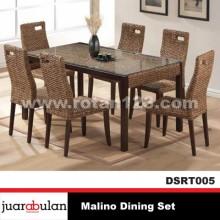 Malino Dining Set Meja Makan Rotan Alami