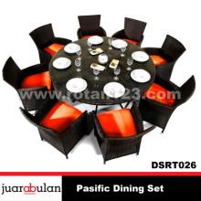 Pasific Dining Set Meja Makan Rotan Sintetis