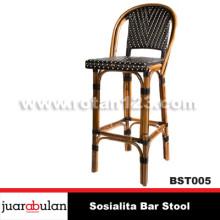Sosialita Bar Stool Kursi Bar Rotan Alami